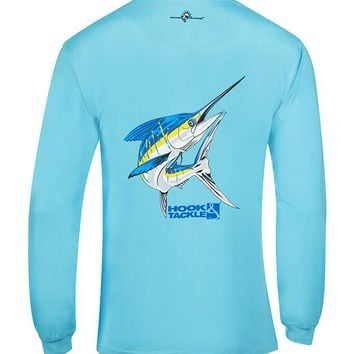 Men's Big Blue L/S UV Fishing T-Shirt