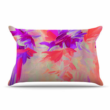 "Ebi Emporium ""Deconstructing the Garden 3"" Purple Pink Pillow Sham"