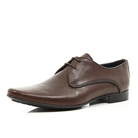 River Island MensBrown leather formal lace up shoes