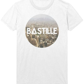 Bastille Cityscape Logo T-Shirt - Hipsta City Print Indie Rock Music Shirt Sweatshirt - Mens / Womens