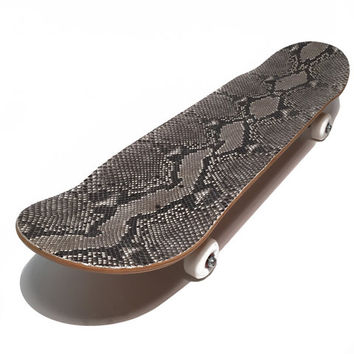Python Leather Skateboard Deck
