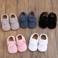 Baby Shoes Infants Toddler Fringe Prewalker Bebe Pu Suede Leather First Walkers Baby Boy Girl Shoes Moccasins Soft Moccs Shoes