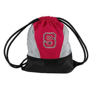 NC State Wolfpack Drawstring Backpack Tote Cinch Sack Sport Pack