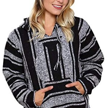Ultra Soft Mexican Poncho - Baja Hoodie Jacket Sweater - Joe for Men & Women