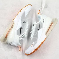 "Nike Air Max 270 ""Transparent"" Running Shoes White/Orange - Best Online Sale"