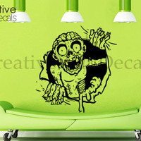 Vinyl Wall Decal Sticker Zombie horoor Halloween Death Kids Bedroom Face r1783