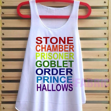 stone chamber prisoner shirt Harry potter shirt tank top Harry Potter clothing tshirt loose fit lord voldemort vest tee tunic - size S M L