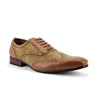 Ferro Aldo Men's 19122AL Perforated Wing Tip Lace Up Dress Oxfords Shoes