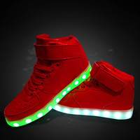 High-top Couple Lightning Multi-color Shoes [11617378063]