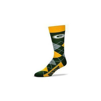NFL Green Bay Packers Argyle Unisex Crew Cut Socks - One Size Fits Most