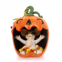 Charming Tails Happy Halloween Is A Real Mouthful Halloween Figurine