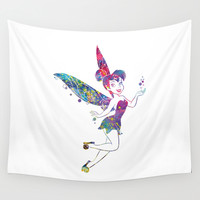 Tinker Bell Wall Tapestry by Bitter Moon