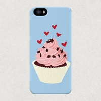 Cupcake with Hearts iPhone 4 4s 5 5s 5c Samsung Galaxy S3 S4 Case