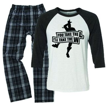 You Take The L Gamer Fortnight Pajamas for Boys
