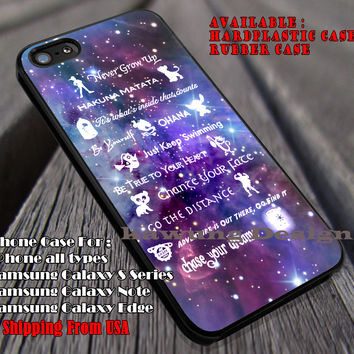 Lessons Learned, Disney Lessons, Quotes, Nebula Galaxy, Peterpan, Stitch, case/cover for iPhone 4/4s/5/5c/6/6+/6s/6s+ Samsung Galaxy S4/S5/S6/Edge/Edge+ NOTE 3/4/5 #cartoon #disney #animated #disneycastle #movie ii