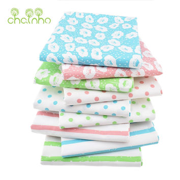9pcs/lot New Printed Twill Cotton Fabric Patchwork For Sewing Quilting/Tissue Cloth Fat Quarter Bundle Of Handmade DIY Material