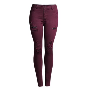 Liva Girl Cutout Skinny Jeans For Ladies