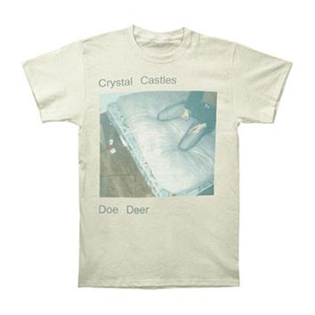 Crystal Castles Men's  Doe Deer Slim Fit T-shirt Cream