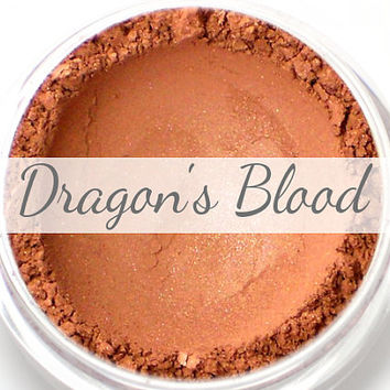 "Eyeshadow Sample - ""Dragon's Blood"" - shimmery cranberry red (Vegan) Mineral Eye Shadow Pigment"