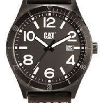 CAT WATCHES Men's Brown Leather Strap Watch