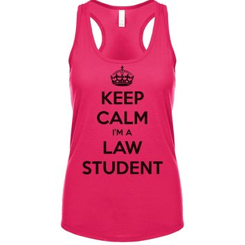 Keep Calm I'm A Law Student Women's Tank