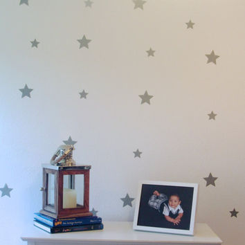 Silver Star Wall Decals / Confetti Star Decals / Silver or Gold Decals