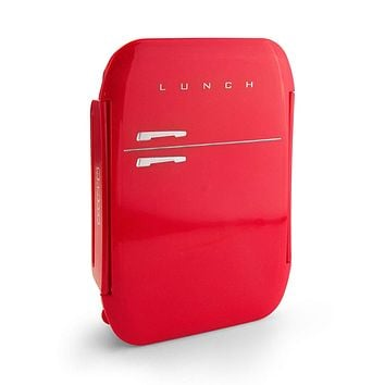 Fridge Retro Lunch Box in Red