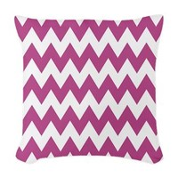 Purple and White Chevron Zig Zag Woven Throw Pillo> 77518770> CircusValley Pink