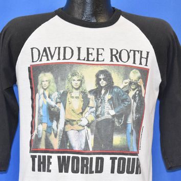 80s David Lee Roth World Tour t-shirt Medium