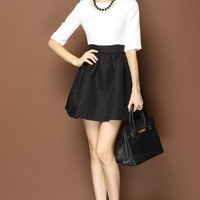 Black and White Skirt Dress