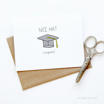Graduation Card - Congratulations Card - Nice Hat
