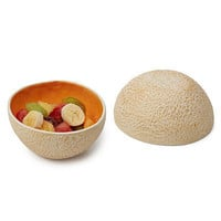 CANTALOUPE BOWLS - SET OF 2 | Fruit, Mellon, Dish, Plate, Kitchen, Ceramic, Porcelain, Earthenware, Orange | UncommonGoods
