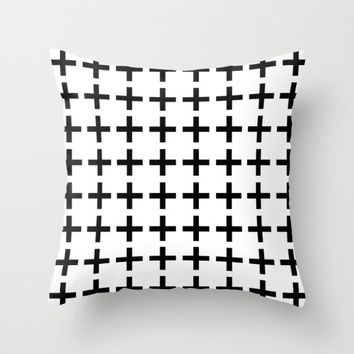 Swiss cross Throw Pillow by Hedehede