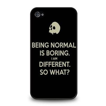 NORMAL IS BORING QUOTES iPhone 4 / 4S Case Cover