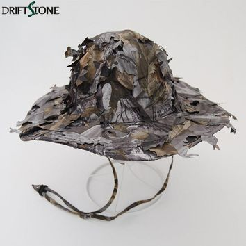 Jungle Leaves Camouflage Boonie Hats Tactical Airsoft Sniper Camouflage Cap Nepalese Cap Militares Army Mens Military Cap