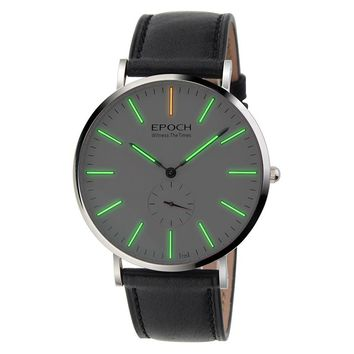 EPOCH 6025G waterproof 50m tritium gas luminous ultrathin case business men quartz watch wristwatch