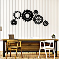 Vinyl Wall Decal Gears Mechanism Engineer Garage Decor Decor Stickers Unique Gift (314ig)