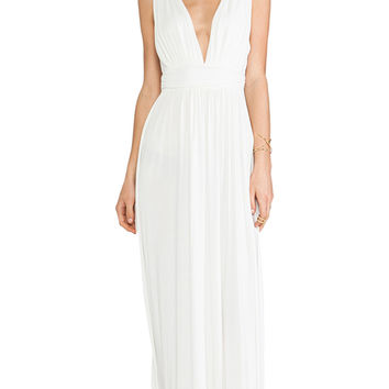 Lovers + Friends Helena Maxi Dress in White