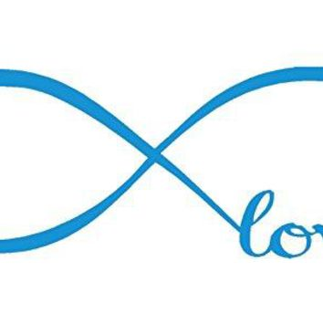 Blue 22'' X 61'' Wall Stickers, Franterd Bedroom Decor Infinity Symbol Word Love Vinyl Art Decal