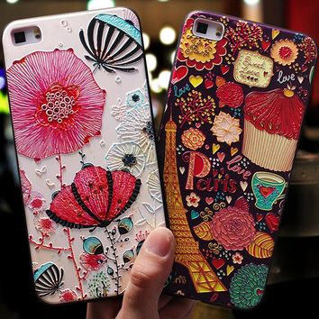 YonLinTan luxury coque,cover,case For HuaWei p8 lite 2015 p8lite 2016 on Phone Back etui 3D 360 Original cases accessories