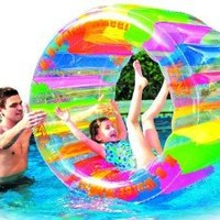 "Water Wheel - Giant Inflatable Swimming Pool Water Wheel Toy (49"" X 33"")"