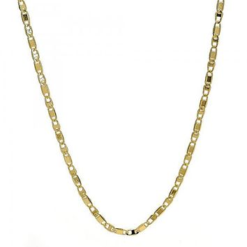Gold Tone 04.99.0025.18GT Basic Necklace, Mariner Design, Polished Finish, Golden Tone