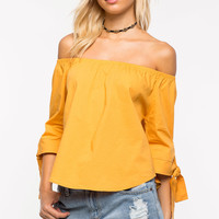 Sure Thing Off Shoulder Top
