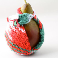 Christmas Pear Jacket with Christmas button by HandaMade on Etsy