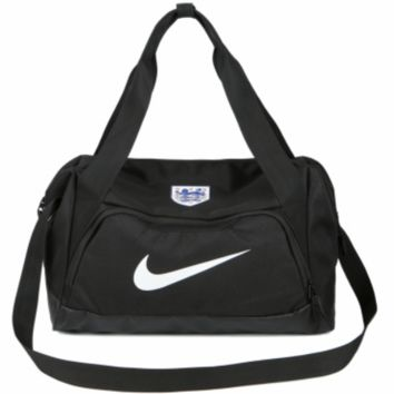 NIKE men and women couples shoulder bag fitness bag sports bag F-ZZZS Black