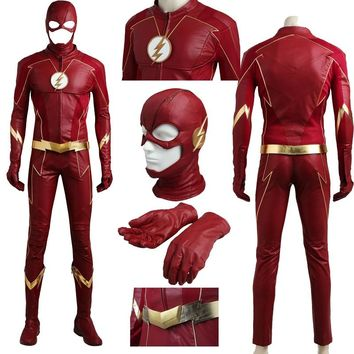 New Exclusive Sale 2017 New The Flash Season 4 Barry Allen Cosplay Costume Halloween With Boots Custom Made