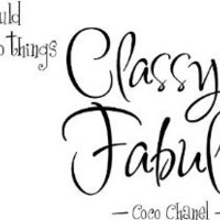 #2 A girl should be two things classy and fabulous coco chanel wall art wall sayings vinly stickers decals