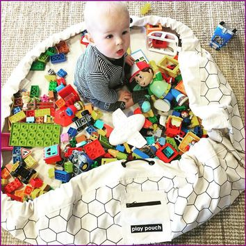 INS New Cellular/Triangle/Cross/Dot/Batman Carpet Blanket With Children Clothes Canvas Play Mat Clothing