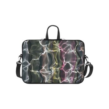 Personalized Laptop Shoulder Bag Abstract Wavy Mesh Handbags 10 Inch
