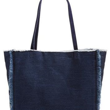 Cartel 'The Tote 4.1' Frayed Denim Tote | Nordstrom